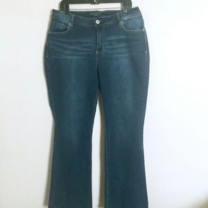 Maurices Curvy Darker Stretch Boot Cut Jeans 16